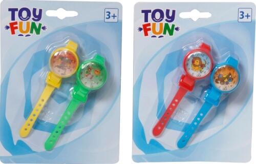 Toy Fun Armbanduhr zum Spielen 2 Stück, sortiert