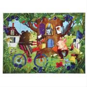 Puzzle, Bär auf dem Fahrrad