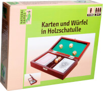 Natural Games Karten und Würfel in Holzschatulle