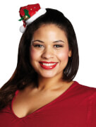 Weihnachtsmütze Paillettenoptik Haarclip